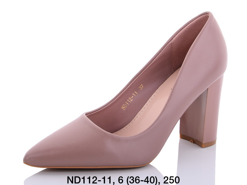 Туфли женские на каблуке коричневые Teetspace-Trasta-Egga-ND112-11