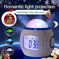 Детский ночник проектор звездного неба с часами 1038 STAR MASTER, фото 1