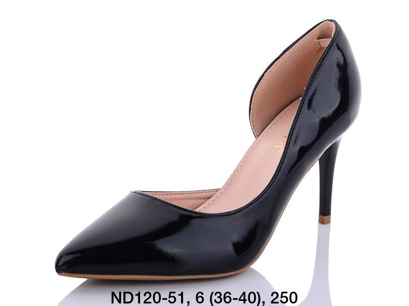 Туфли женские на каблуке черные Teetspace-Trasta-Egga-ND120-51