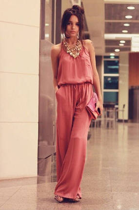 """Летний женский комбинезон """"Лилиана"""" с поясом и карманами (3 цвета), фото 2"""