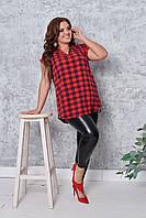 Женская летняя блузка большие размеры  56 . 58 , 60 , 62 юа21071, фото 1