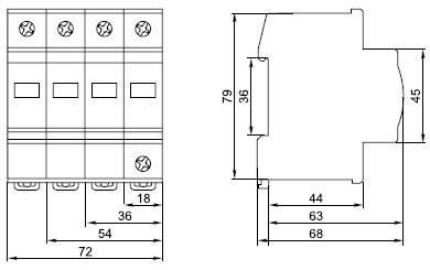Ограничитель импульсных перенапряжений ОПС1-С 4Р 20/40кА 400B IEK, фото 2