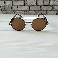 Модные круглые солнцезащитные очки коричневые, качественные мужские солнцезащитные очки от солнца Polaroid