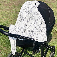 Муслиновые пеленки для новорожденных Milk 120*120