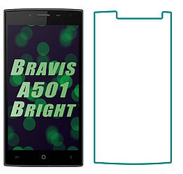 Защитное стекло Bravis A501 Bright (Прозрачное 2.5 D 9H) (Бравис А501)