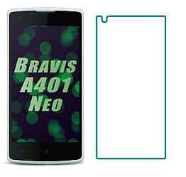Защитное стекло Bravis A401 Neo (Прозрачное 2.5 D 9H) (Бравис А401 Нео)