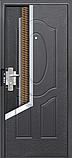 Дверь входная Супер Эконом Метал/Метал Левая 96Х2050см порошковая покраска, фото 4