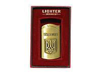 Зажигалка турбо подарочная Lighter Герб Украины Символика