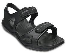 Сандалии мужские босоножки Кроксы оригинал / Crocs Men's Swiftwater River Sandal (203965), Черные