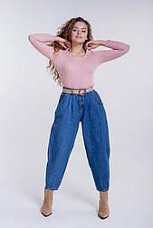 Жіночі джинси з високою посадкою укорочені останній розмір S