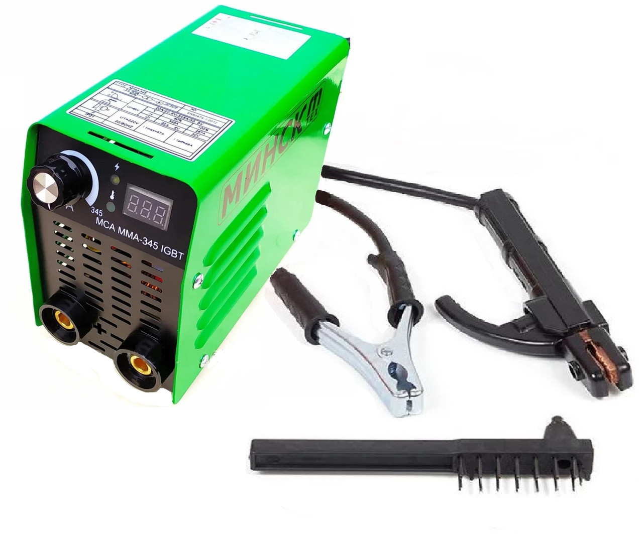 Зварювальний апарат інверторний Мінськ ММА-345 IGBT (Дисплей, 345 Ампер)
