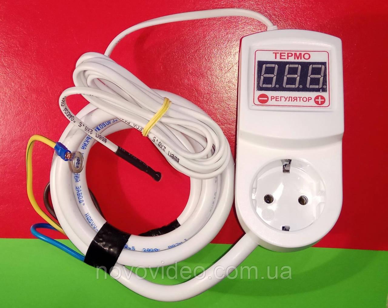 Регулятор температуры с таймером цифровой ЦТРТ-А до 125 грд с кабелем для нагрузки