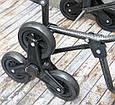 Візок для продуктів на колесах, | Колір №17 - бордова з кольоровим горошком | господарська тачка 🎁%🚚, фото 7