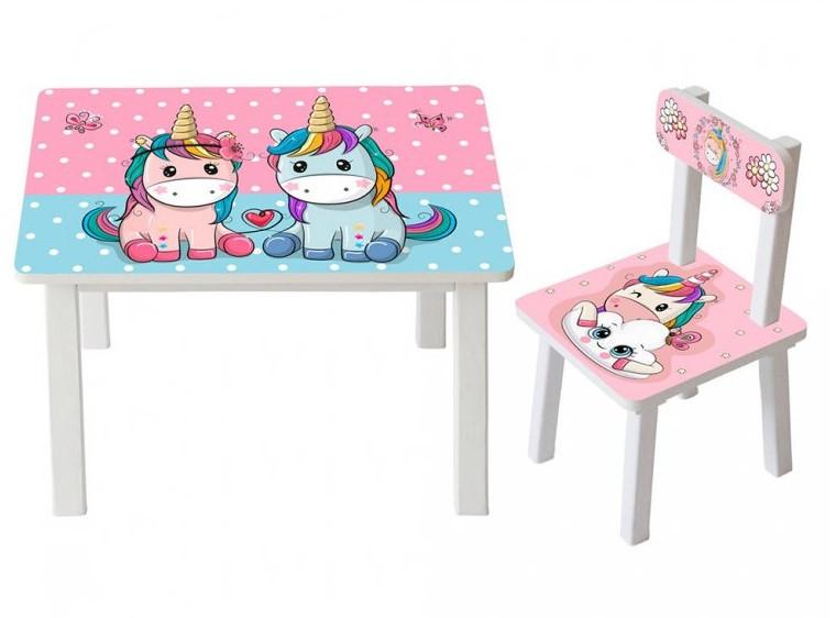 Детский столик и стульчик расцветки разные BSM2K