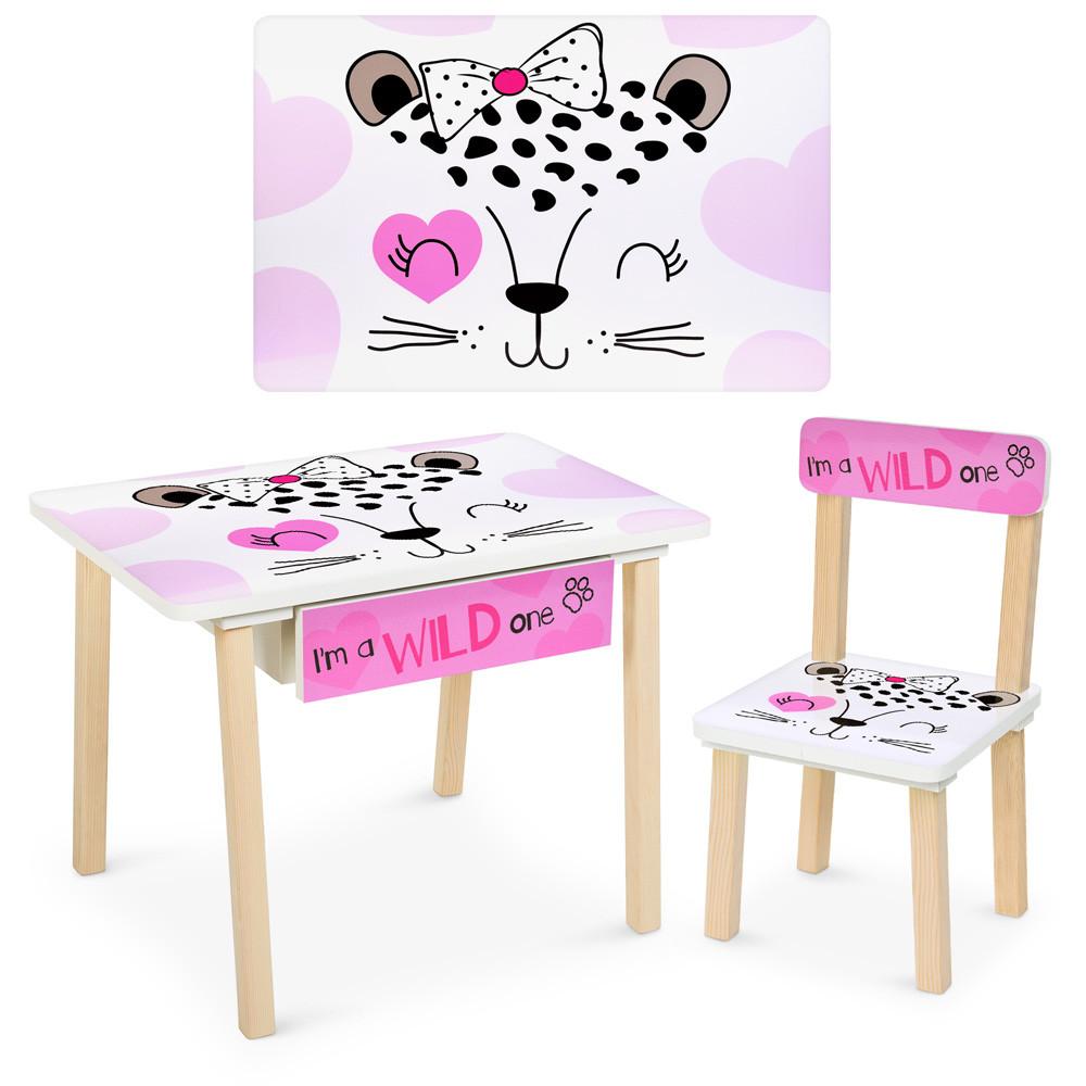 Стол и стульчик детский с ящиком Рисунок разный