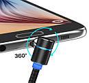 Кабель Fabric Magnetic Angular USB to lightning / Type-c / Microusb 1m (red), фото 5