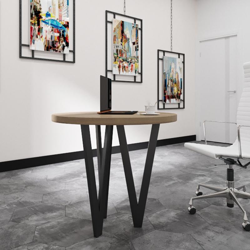 Стол обеденный круглый в стиле лофт металлический Ви-3