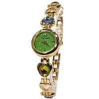 Часы Pollock Изумруд с камнями изысканные элегантные часы для девушек Green 3110-8951, КОД: 1452197