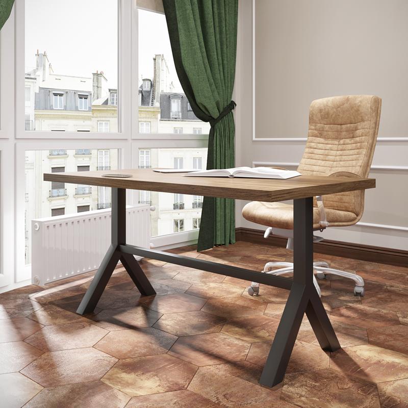 Стол обеденный в стиле лофт металлический Лекс