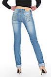 Джинсы женские ОМАТjeans 9914 голубые, фото 7