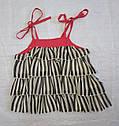 Детский летний комплект для девочки Shoes: блуза в рюшечки на бретелях + шорты  (Petito Club, Турция), фото 3