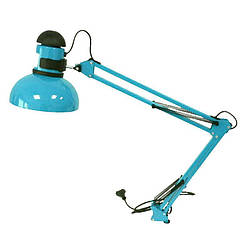 Настольная лампа с креплением к столу голубая