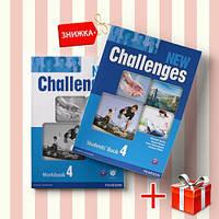 Книги New Challenges 4 Students Book & workbook (комплект: учебник и рабочая тетрадь) Pearson-Longman ISBN 9781408258392-1