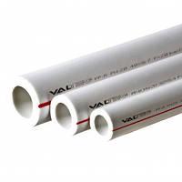 Полипропиленовая труба Valtec PP-ALUX арм. алюминием PN25 50 MM (белый)