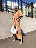 Женский костюм лен свободного кроя: футболка и широкие брюки кюлоты (в расцветках), фото 4