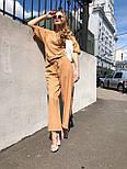 Женский костюм лен свободного кроя: футболка и широкие брюки кюлоты (в расцветках), фото 5
