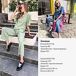 Женский костюм лен свободного кроя: футболка и широкие брюки кюлоты (в расцветках), фото 10