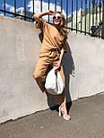 Женский костюм лен свободного кроя: футболка и широкие брюки кюлоты (в расцветках), фото 7