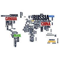Виниловая наклейка World Map