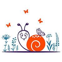 Виниловая наклейка детская Snail
