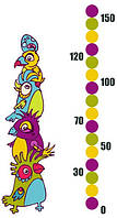 Виниловая наклейка ростомер Parrots