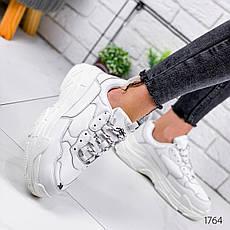 Кроссовки женские белые на платформе в стиле Balenciaga из эко кожи. Кросівки жіночі білі на платформі, фото 3