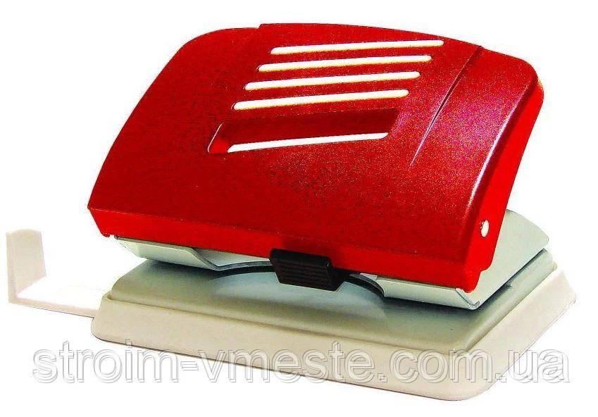 Дырокол для бумаги пластиковый NORMA 4328 8 см 15 л красный