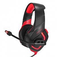 Наушники игровые Onikuma K1-B с микрофоном Black-Red, фото 1