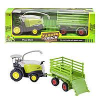 "Комбайн игрушка ""Farm Truck"" с перевозкой(955-107)"