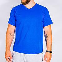 Мужская футболка синяя Fruit Of The Loom, размер L, арт. 33-1063