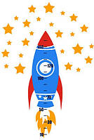 Виниловая наклейка ростомер Rocket
