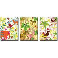 Картина триптих Jungle