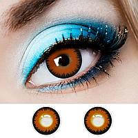 Медовые контактные линзы 14.5 мм для светлых и темных глаз, оттеночные цветные линзы (N0063)