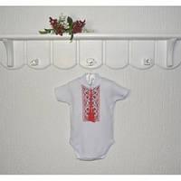 Детская вышиванка боди для младенца Тарас короткий рукав Размер 62 см, 80 см