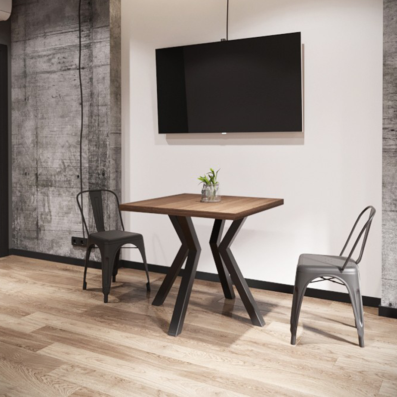 Стол обеденный в стиле лофт металлический Свен-4