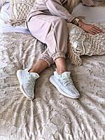 Женские кроссовки Adidas Yeezy Boost 350 V2 в стиле адидас изи буст серые РЕФЛЕКТИВ (Реплика ААА+)