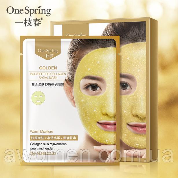 Коллагеновая маска для лица One spring Golden Collagen Mask 28 g