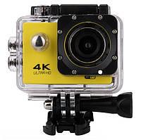 Водонепроницаемая экшн камера RIAS V3R WiFi 4K с креплением в комплекте Yellow (2_009360)