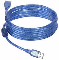 Кабель удлинитель USB A - USB F 5 метров Blue (3795)