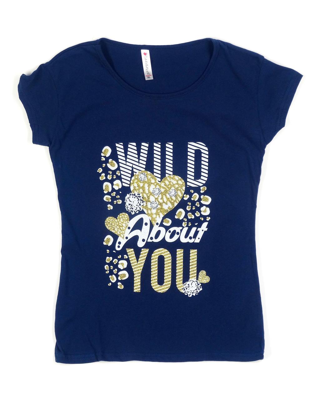 Модная женская футболка с крупной надписью (48)